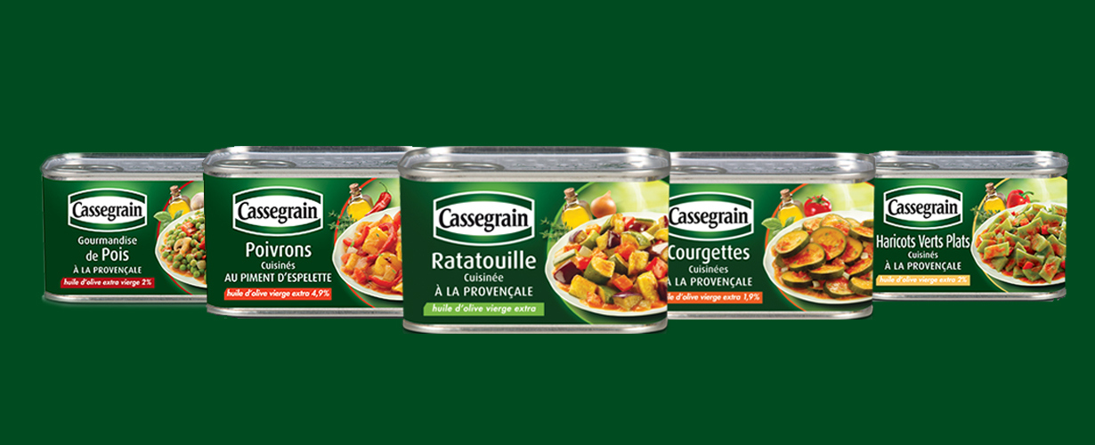 Encore une petite faim ? Découvrons les autres recettes de la famille «Légumes du Soleil» proposées par Cassegrain. Elles n'attendent que nous !