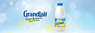 Candia GrandLait léger & digeste Lait sans lactose