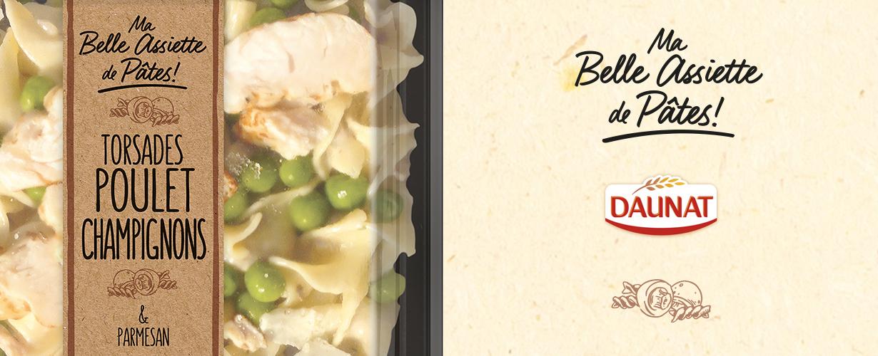 Torsades poulet champignon & parmesan