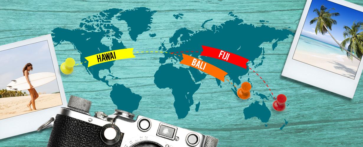 Pendant 4 semaines, 1 000 trnders vont voyager et découvrir sous la douche 3 parfums inspirés d'îles paradisiaques : Fidji, Bali et Hawai !