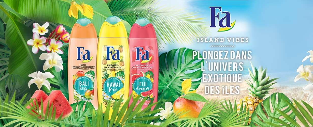 La marque Fa nous dévoile en avant première sa nouvelle gamme exotique : Fa Island Vibes !