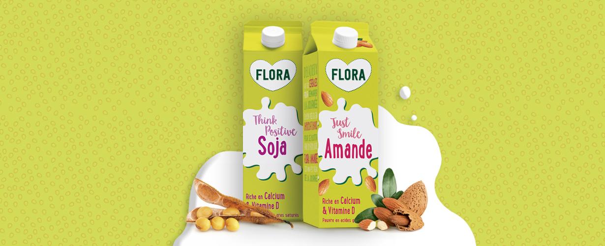 L'équipe Flora va faire découvrir en avant première à 3 000 trnders les premières boissons végétales Soja et Amande au rayon frais.