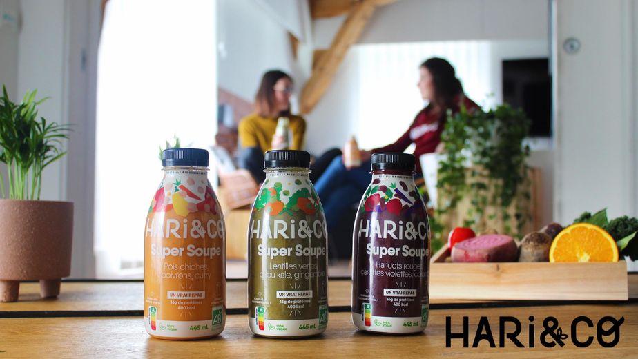 Découvre les Super Soupes bio HARi&CO, une alternative végétale et Made in France aux traditionnels sandwich ou salade préparés.