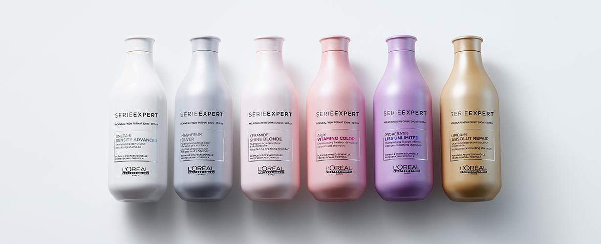 <center> Vitamino Color pour les cheveux colorés, Silver pour les cheveux gris ou blancs, Absolut Repair pour les cheveux abîmés et Inforcer pour les cheveux cassants : 4 gammes pour 4 besoins spécifiques. Serie Expert s'adapte à nos cheveux.