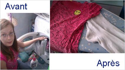 tee shirt blanc devenu rose. Black Bedroom Furniture Sets. Home Design Ideas