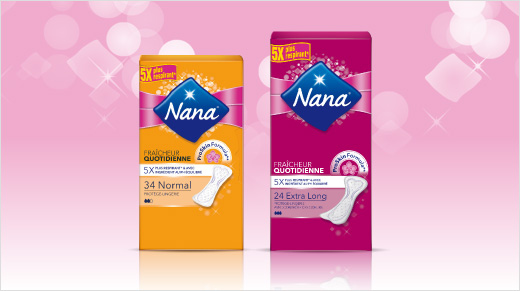 Les nouveaux protège-lingeries Fraîcheur Quotidienne de Nana sont spécialement conçus pour protéger plus que nos sous-vêtements.