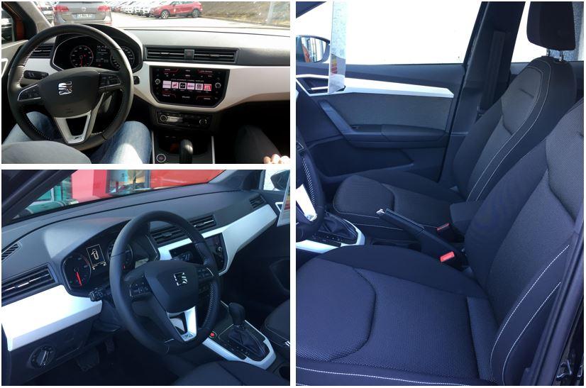 L'intérieur de la SEAT Arona