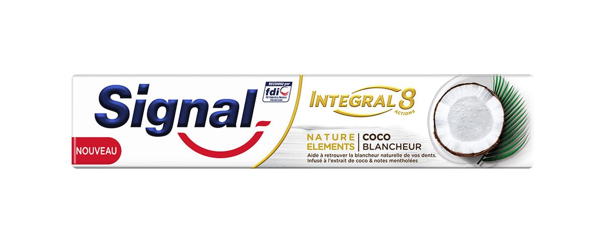 Le tout premier dentifrice infusé à l'extrait naturel de coco
