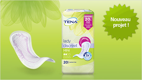 Nouveau projet : TENA Lady Discreet