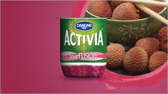 …la seconda è Activia fruitFusion gusto Lampone – Litchi,  in cui la delicatezza del lampone viene esaltata dal  litchi, che aggiunge un tocco zuccherino alla combinazione di frutti…