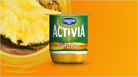 …infine, c'è Activia fruitFusion gusto Pesca – Ananas, in cui  dolcezza della pesca si fonde con le note esotiche dell'ananas, per rievocare tutto il brio dell'estate.