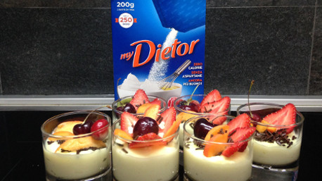 Crema pasticcera light e frutta fresca for Dolci dietetici