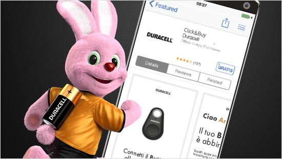 Click&Buy è il nuovo button di Duracell per acquistare le batterie in modo semplice e veleoce e non rimanere mai scarichi...