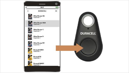 ...da una lista possiamo selezionare il tipo di batteria che vogliamo ordinare e cliccando sul button facciamo partire l'ordine, in modo semplice e veloce ...