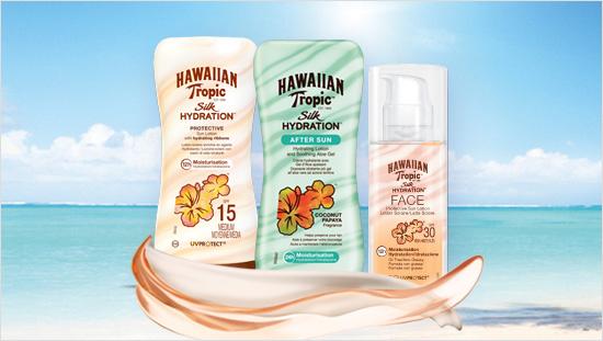 … Hawaiian Tropic ha dedicato Silk Hydration, la prima linea solare con nastri di seta idratanti…
