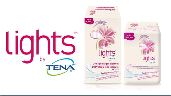Grazie ad una tecnologia esclusiva, Lights by TENA assorbe più velocemente le perdite di pipì rispetto agli assorbenti normali, lasciandoci asciutte a lungo.