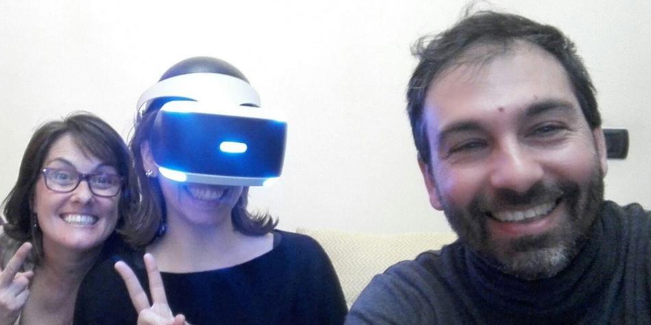trnder PJ-Axe e la soddisfazione delle amiche che hanno provato PlayStation VR.