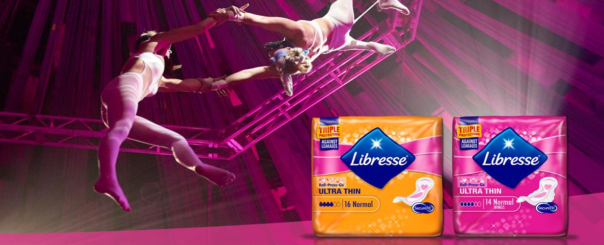 Libresse maandverband met Triple Protection biedt drievoudige bescherming tijdens je menstruatie.