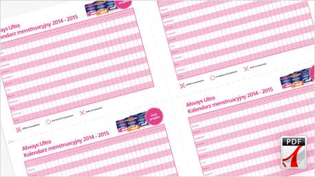 Always Ultra: Kalendarzyk menstruacyjny. - Realizacja projektu Always ...