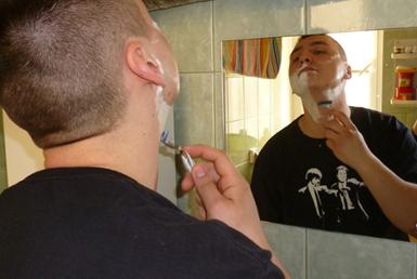 testy golenia