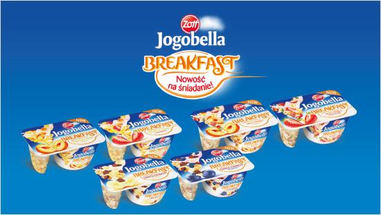 W projekcie poznamy aż sześć wariantów jogurtu Jogobella Breakfast - Choco Crunchy (jagoda, banan),Tropical Musli (brzoskwinia, truskawka), Nuts Musli (brzoskwinia, truskawka).