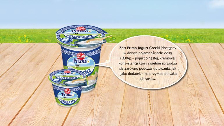 Możesz również wypróbować jogurt naturalny Zott Primo Grecki, idealny do sałatek i sosów.