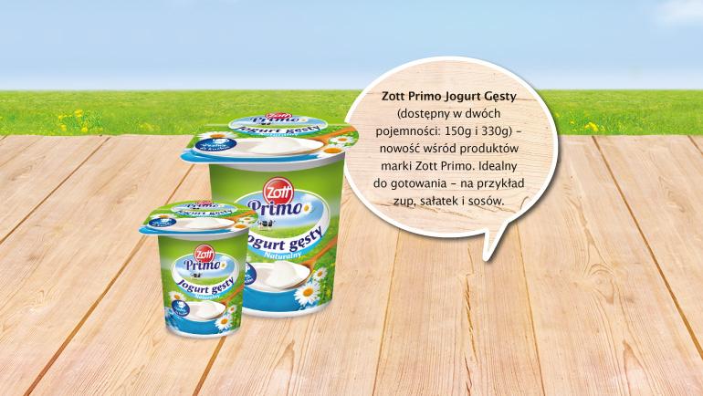 W Twojej kuchni świetnie sprawdzi się również jogurt naturalny Zott Primo Gęsty.