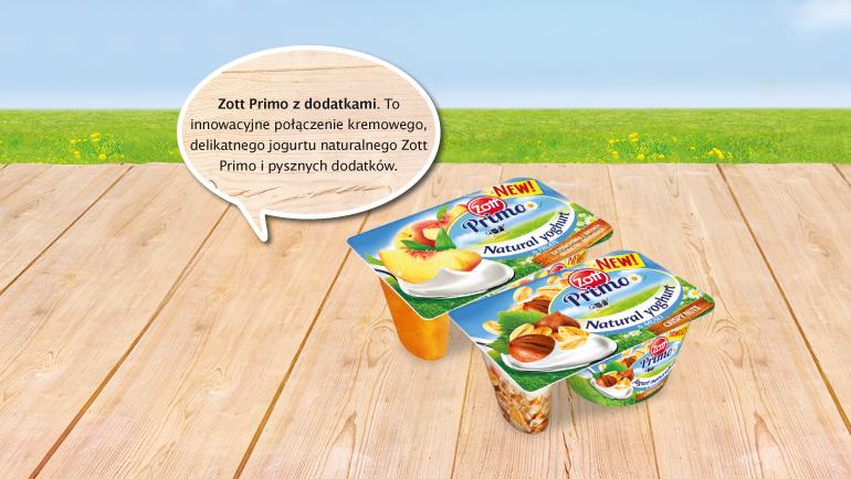 A jeżeli Ty lub Twoi bliscy będziecie mieć ochotę na przekąskę, sięgniecie po Zott Primo z dodatkami.