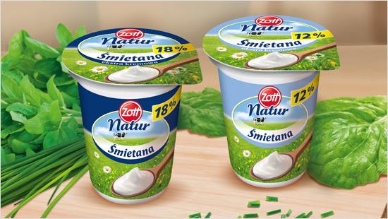 Zott Natur Śmietana to produkt w 100% naturalny.