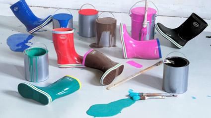 As coloridas Havaianas Rain Boots Aqua