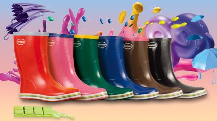 Coloridas Havaianas Rain Boots Aqua