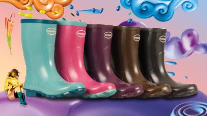 Coloridas Havaianas Rain Boots Helios Mid Cut